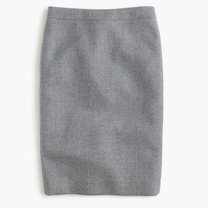 NWT J.Crew Double Serge WOOL No.2 Pencil Skirt